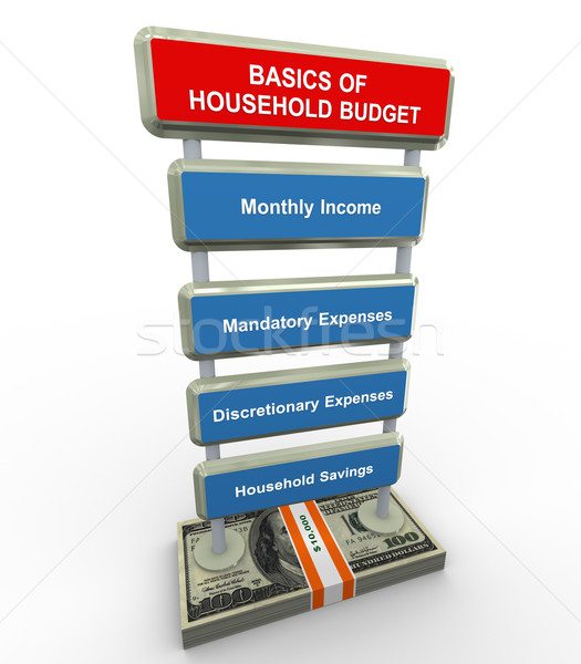 Basics of household budget Stock photo © nasirkhan