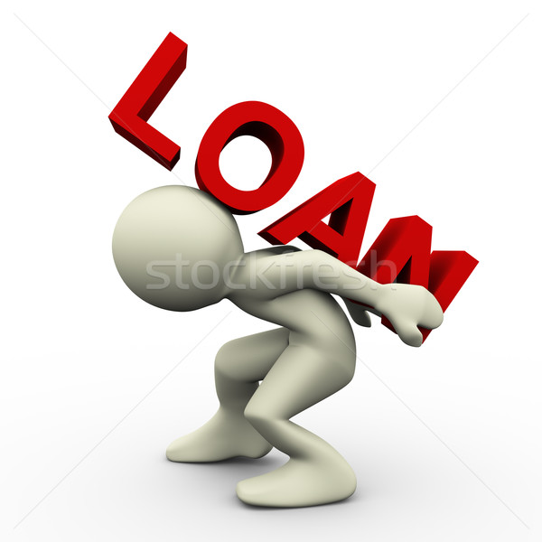 3D zwaar lening 3d render man Stockfoto © nasirkhan