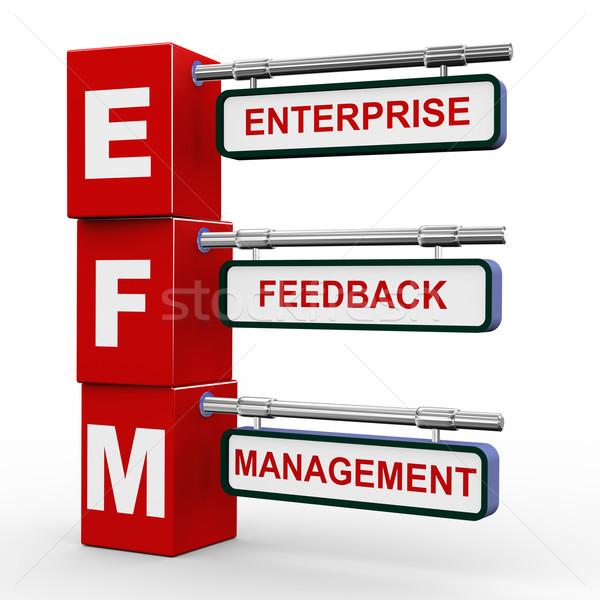 3d modern signboard of efm  Stock photo © nasirkhan