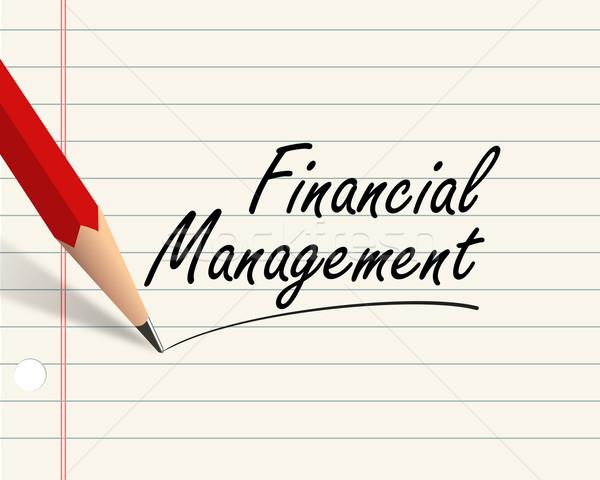 Pencil paper - financial management Stock photo © nasirkhan