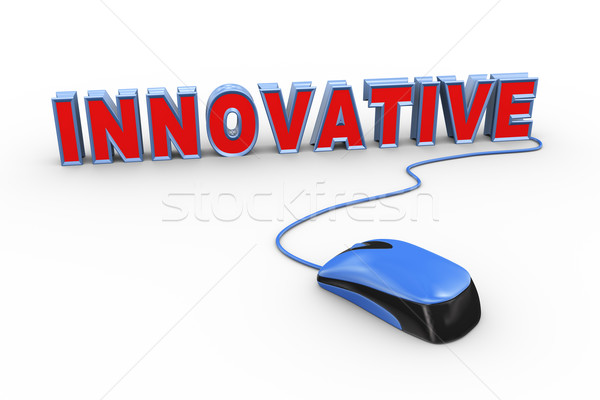 3d mouse attached to word text innovative Stock photo © nasirkhan