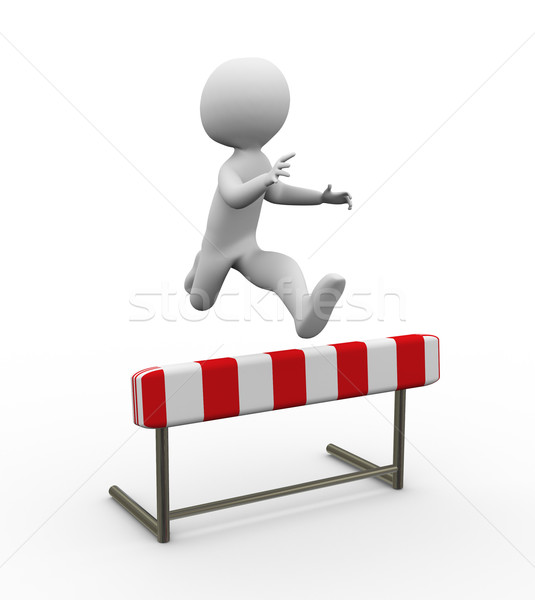 3d hurdle jump Stock photo © nasirkhan