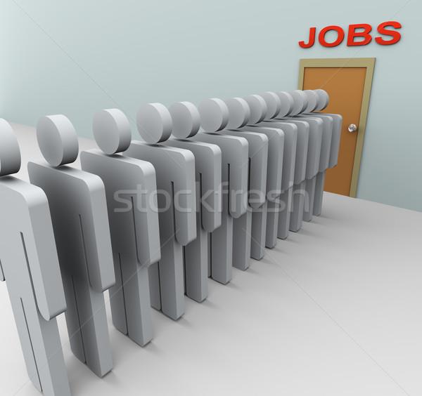 3D erkekler iş arama 3d insanlar bakıyor iş Stok fotoğraf © nasirkhan