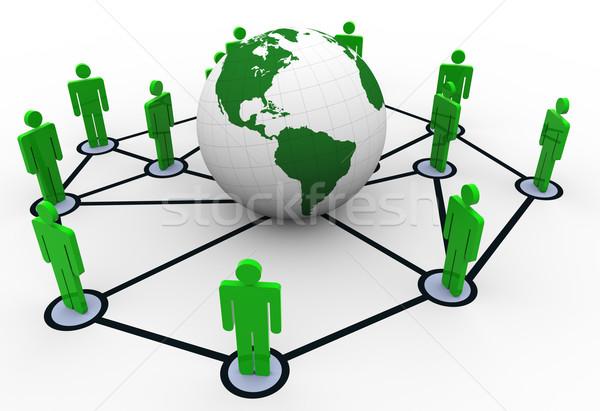 Sieci ludzi około świecie global business działalności Zdjęcia stock © nasirkhan