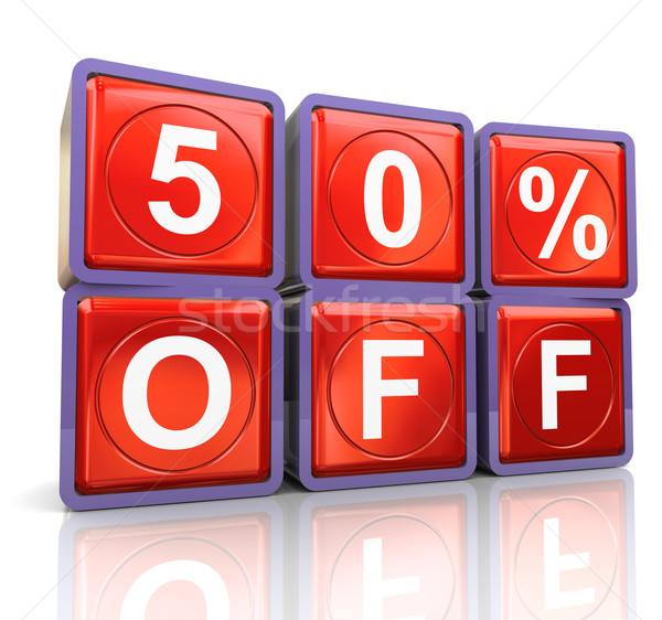 3d reflective 50% of Stock photo © nasirkhan