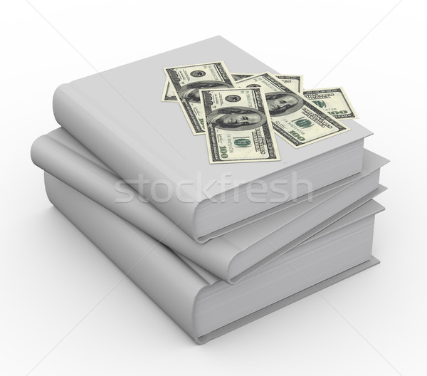 3d money on books Stock photo © nasirkhan