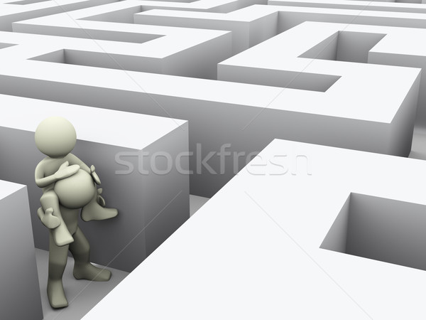 3d people in maze Stock photo © nasirkhan