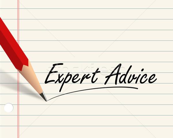 Pencil paper - expert advice Stock photo © nasirkhan