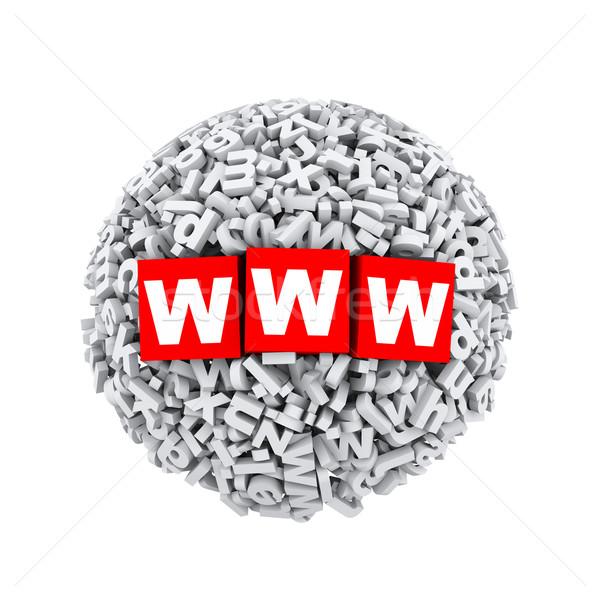 3D alfabe mektup karakter küre top Stok fotoğraf © nasirkhan