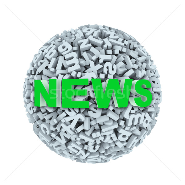 3d news - alphabet letter character sphere ball Stock photo © nasirkhan