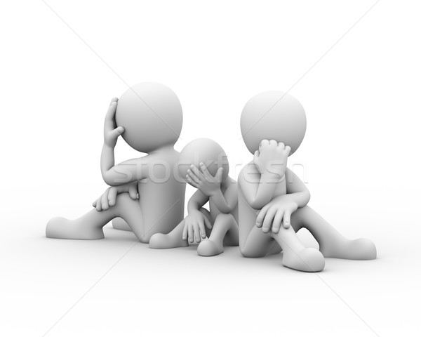 3d family dispute frustration problems concept Stock photo © nasirkhan