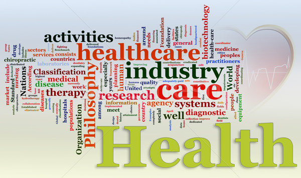 Wordcloud of Healthcare Stock photo © nasirkhan