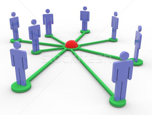 3d pessoas rede 3d render pessoas de negócios internet multidão Foto stock © nasirkhan