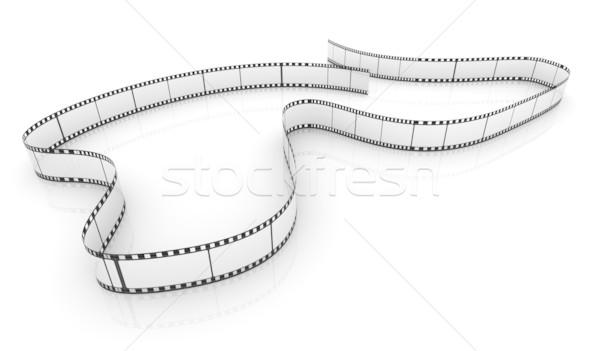 Stok fotoğraf: şeffaf · film · 3D · film · şeridi · beyaz