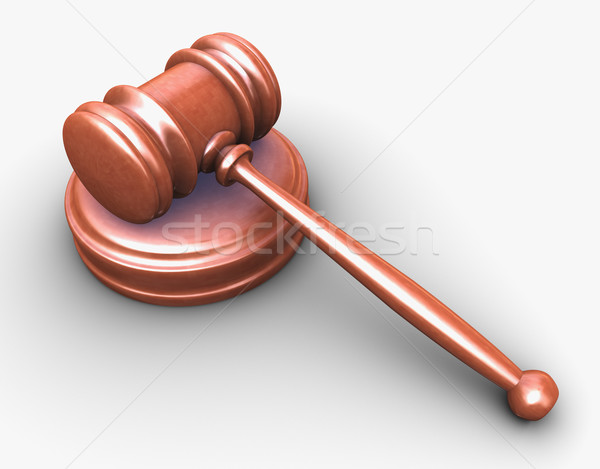 3d wooden gavel Stock photo © nasirkhan