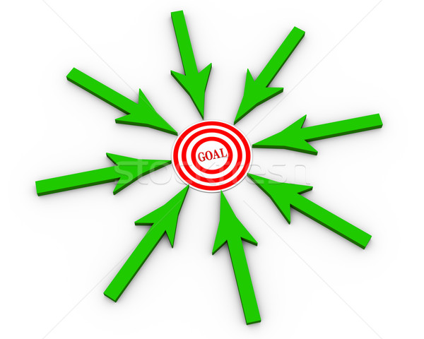 3d arrow pointing to goal Stock photo © nasirkhan