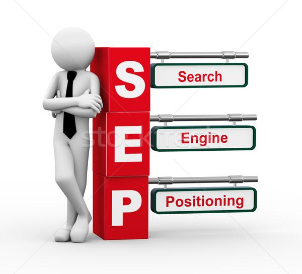 3d businessman with sep signpost illustration Stock photo © nasirkhan