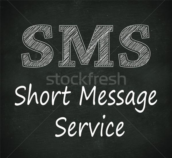 Schoolbord illustratie sms kort bericht dienst Stockfoto © nasirkhan