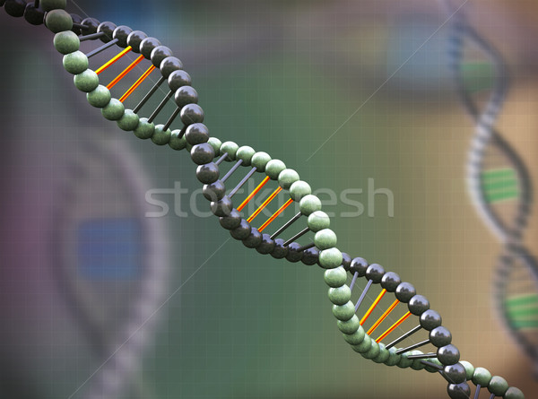 3d abstract molecular dna background Stock photo © nasirkhan
