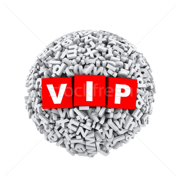 3d alphabet letter character sphere ball vip Stock photo © nasirkhan