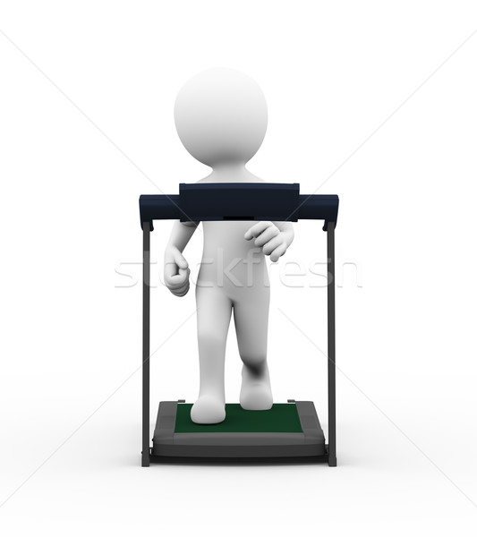 3d man tredmolen oefening 3D Stockfoto © nasirkhan