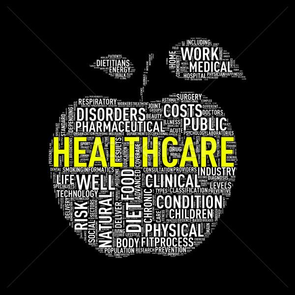 Zdjęcia stock: Opieki · zdrowotnej · jabłko · ilustracja · zdrowych