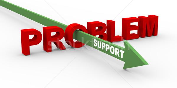 Сток-фото: 3D · проблема · поддержки · 3d · визуализации · слово · стрелка