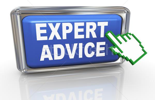 3d hand cursor expert advice Stock photo © nasirkhan