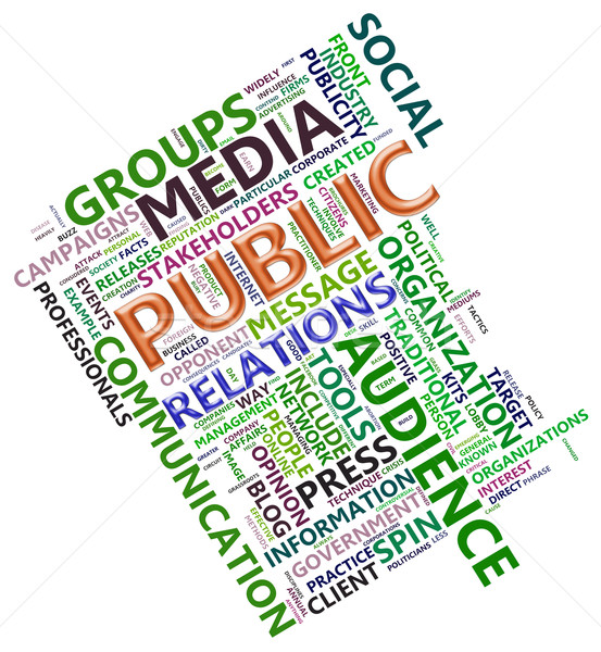 Wordcloud of public relation Stock photo © nasirkhan