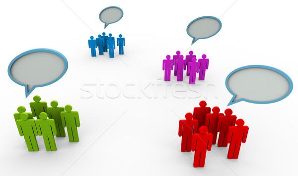 ストックフォト: 異なる · 意見 · 3次元の人々 · グループ · インターネット · 男