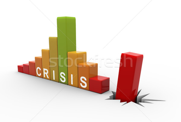 3d business crisis bars Stock photo © nasirkhan