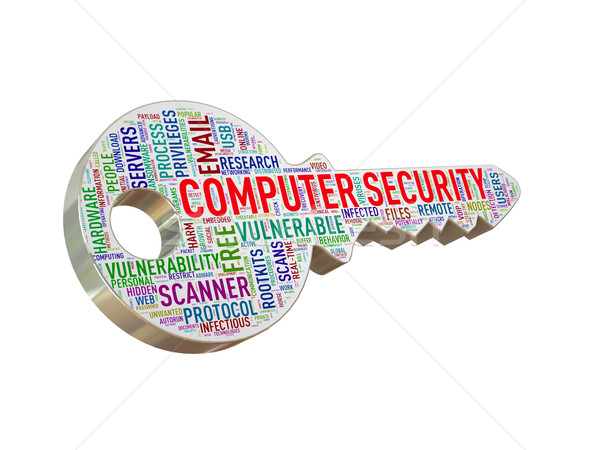 3d computer security wordcloud tag key  Stock photo © nasirkhan
