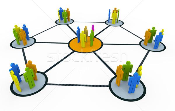 Group network Stock photo © nasirkhan