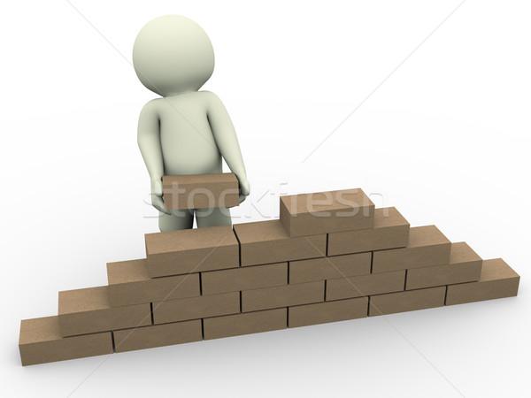 3d man builder Stock photo © nasirkhan