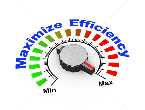 3d knob - maximize efficiency Stock photo © nasirkhan