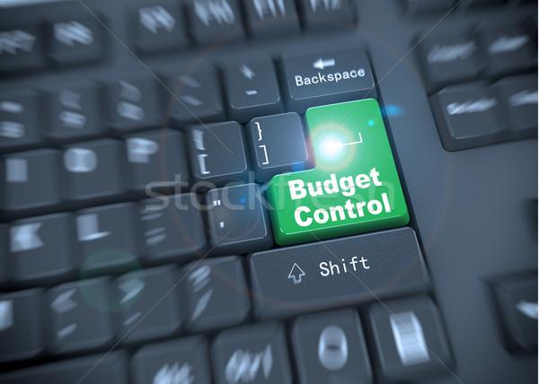 Stock fotó: 3D · billentyűzet · költségvetés · szavak · renderelt · kép · fekete