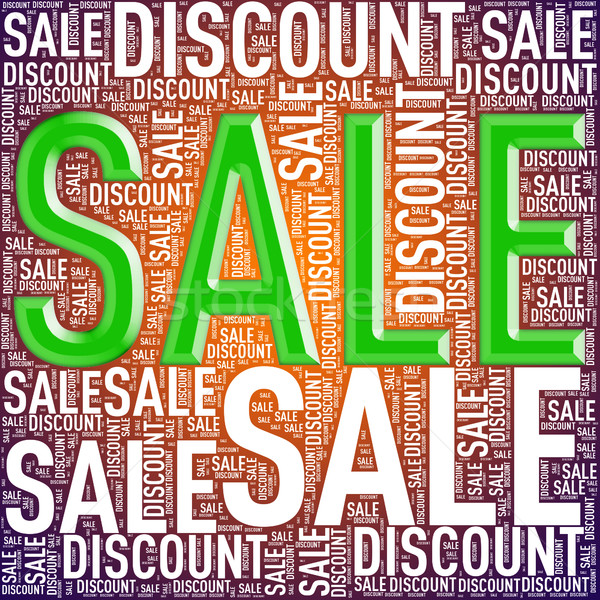 Special sale discount wordcloud tag Stock photo © nasirkhan