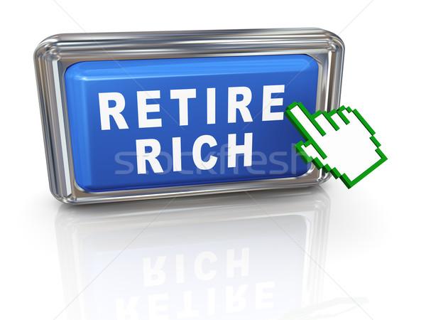 3d hand cursor retire rich Stock photo © nasirkhan
