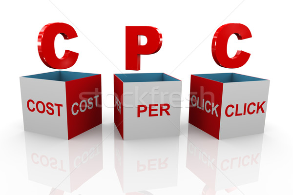 3d box of cpc - cost per click Stock photo © nasirkhan