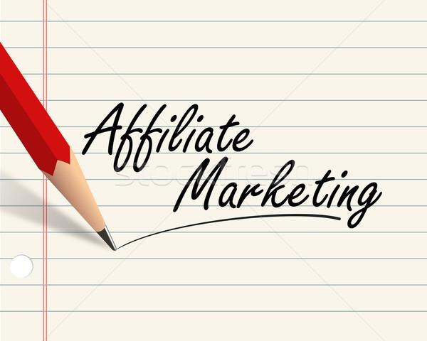 Pencil paper - affiliate marketing Stock photo © nasirkhan