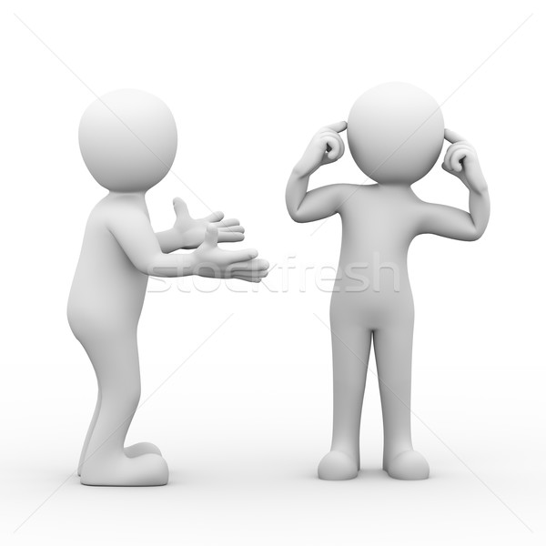 3d conflict dispute between people Stock photo © nasirkhan