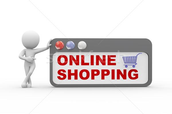 3d online e-shopping Stock photo © nasirkhan