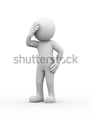 3d upset sad depressed person  Stock photo © nasirkhan