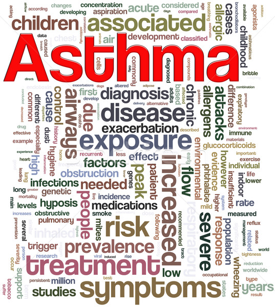 Asthma wordcloud Stock photo © nasirkhan