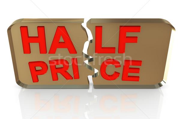 Satış tanıtım metin 50 yüzde Stok fotoğraf © nasirkhan