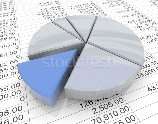 3d pie chart on sheet Stock photo © nasirkhan