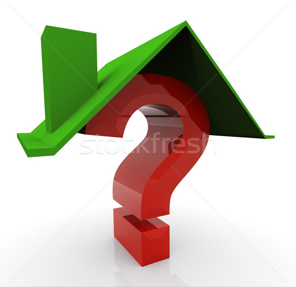 3d house and question  Stock photo © nasirkhan