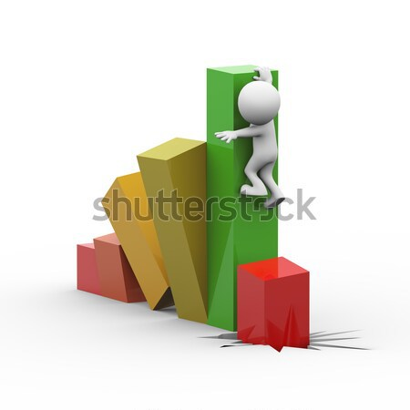 3d man bar jump Stock photo © nasirkhan