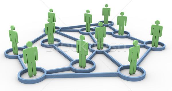 3D business gemeenschap netwerk 3d render internet Stockfoto © nasirkhan