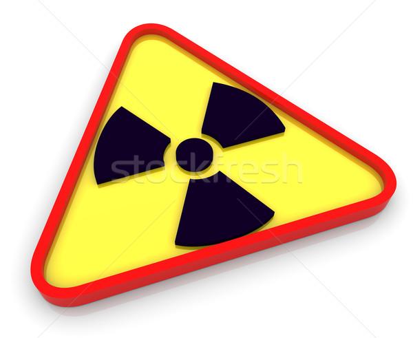 3D 放射性 放射線 シンボル 3dのレンダリング にログイン ストックフォト © nasirkhan